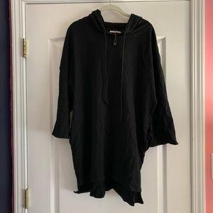 Zara black highlow three quarter sleeve sweatshirt